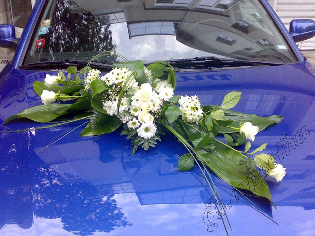 Design of bridal car - Wedding Car Decoration Of Rose And Ornithogalum